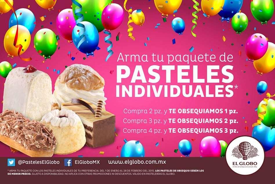 El Globo: 3x2, 5x3 ó 7x4 en los pasteles individuales