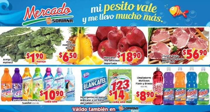 Ofertas de frutas y verduras en Soriana 25 y 26 de marzo