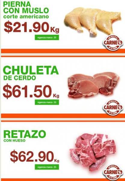 Ofertas de carnes en La Comer marzo 25