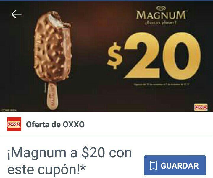 Oxxo: paleta Magnum a $20