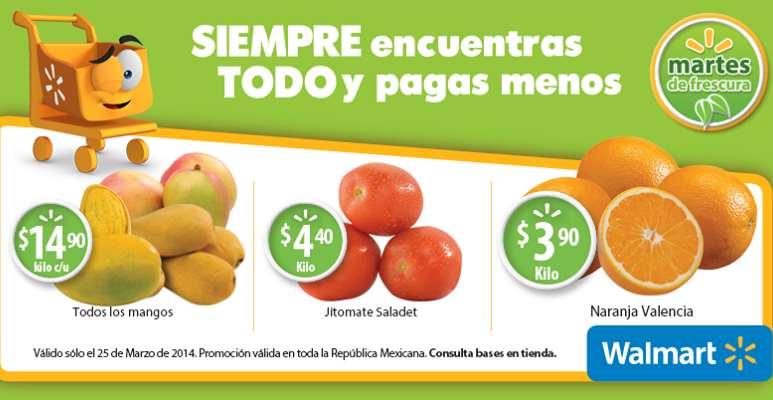 Martes de frescura en Walmart marzo 25: naranja $3.90 el kilo y más