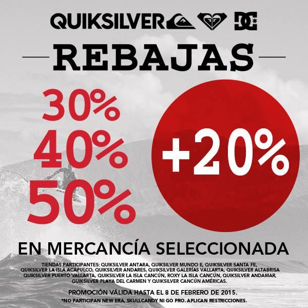 Quiksilver: hasta 50% de descuento + 20% adicional en rebajas