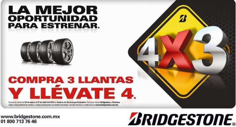 Bridgestone: 4x3 en llantas