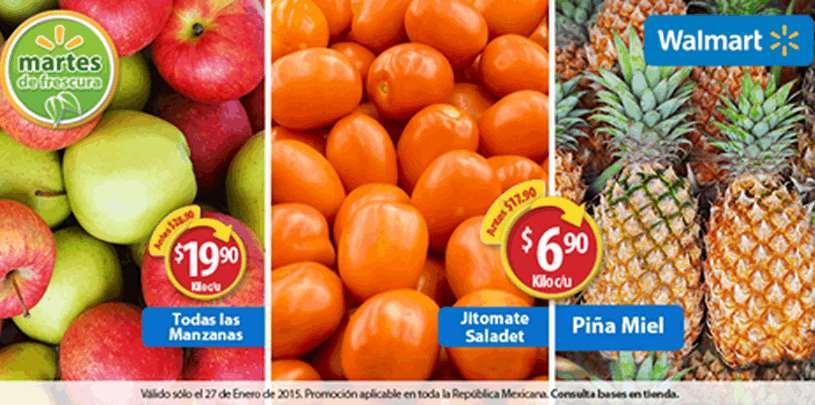 Martes de frescura en Walmart enero 27: jitomate $6.90 y más