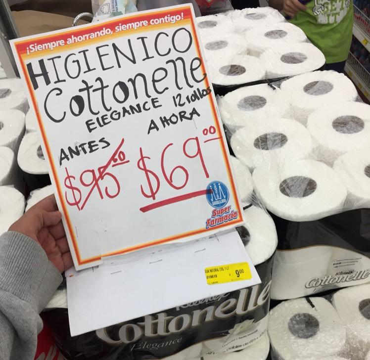 Farmacias Guadalajara: Papel higiénico cottonelle con 12 piezas