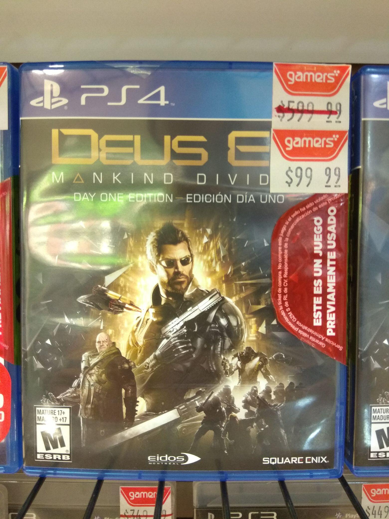 GAMERS: Deus Ex Mankind Divided para PS4