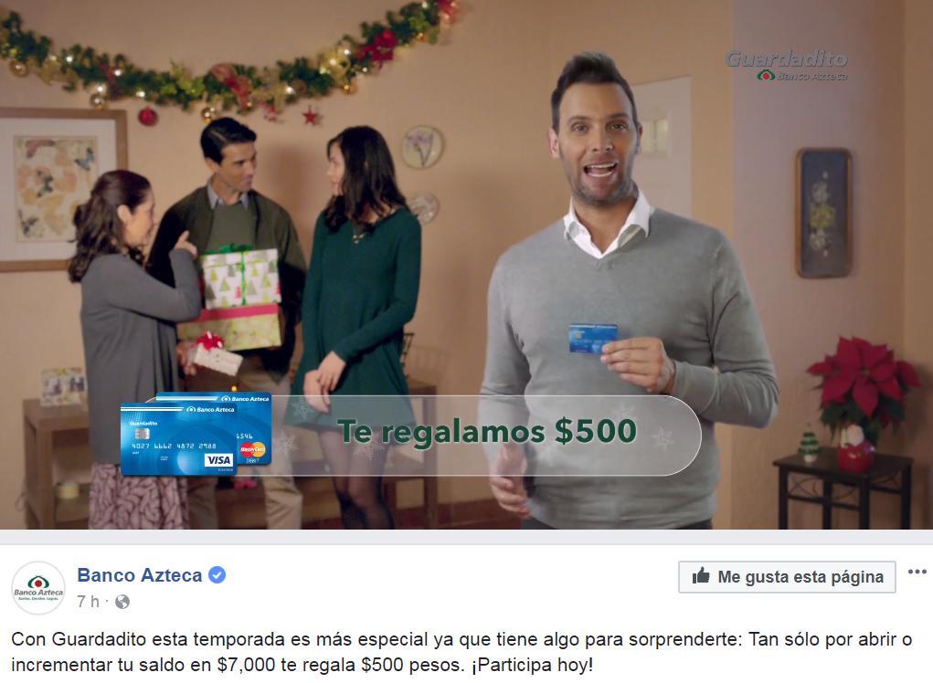Banco Azteca: Regalo de $500 con Guardadito / abrir o incrementar tu saldo en $7,000
