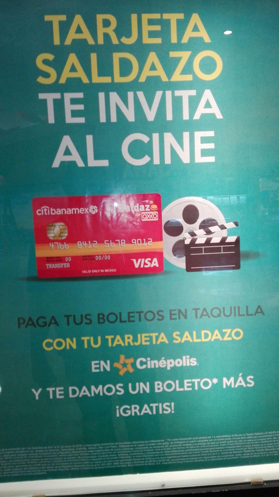Cinépolis: paga tus boletos con Saldazo y te regalan otro