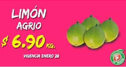 Miércoles de Plaza en La Comer enero 28: limón $6.90 y más