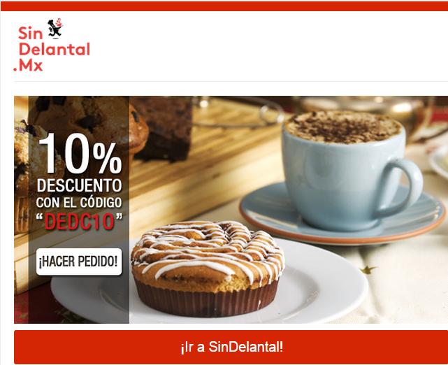 """SinDelantal.Mx: 10% de Descuento con Codigo """"DEDC10"""""""