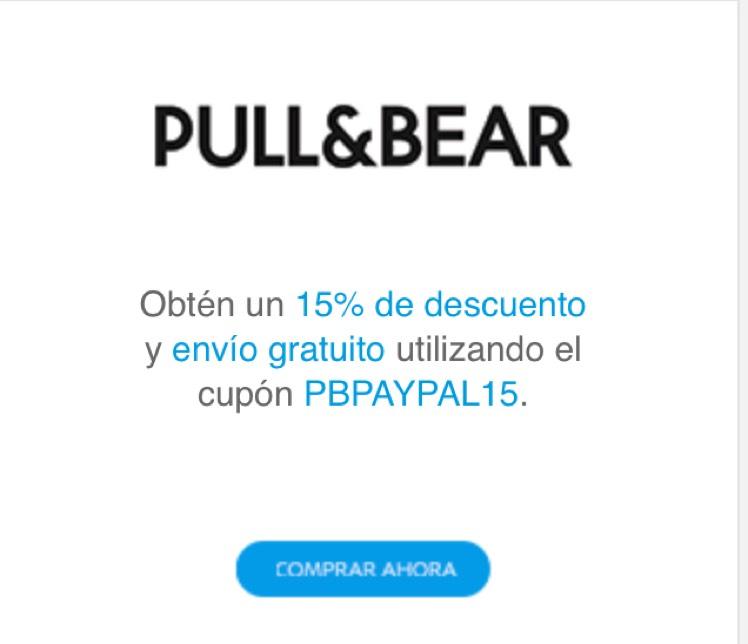Pull & Bear: cupón de 15% de Descuento pagando con PayPal