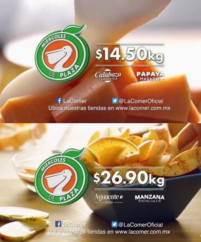 La Comer: Miércoles de Plaza 6 Diciembre: Papaya Maradol $14.50 kg... Calabaza Italiana $14.50 kg... Aguacate Hass $26.90 kg... Manzana Royal Gala $26.90 kg... y más