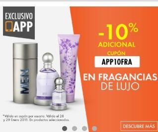 Linio APP: Cupón 10% en fragancias (productos seleccionados)