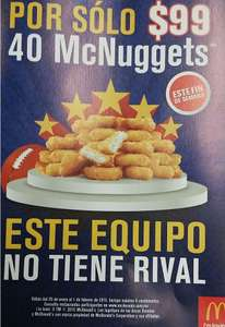McDonald's: 40 nuggets por $99