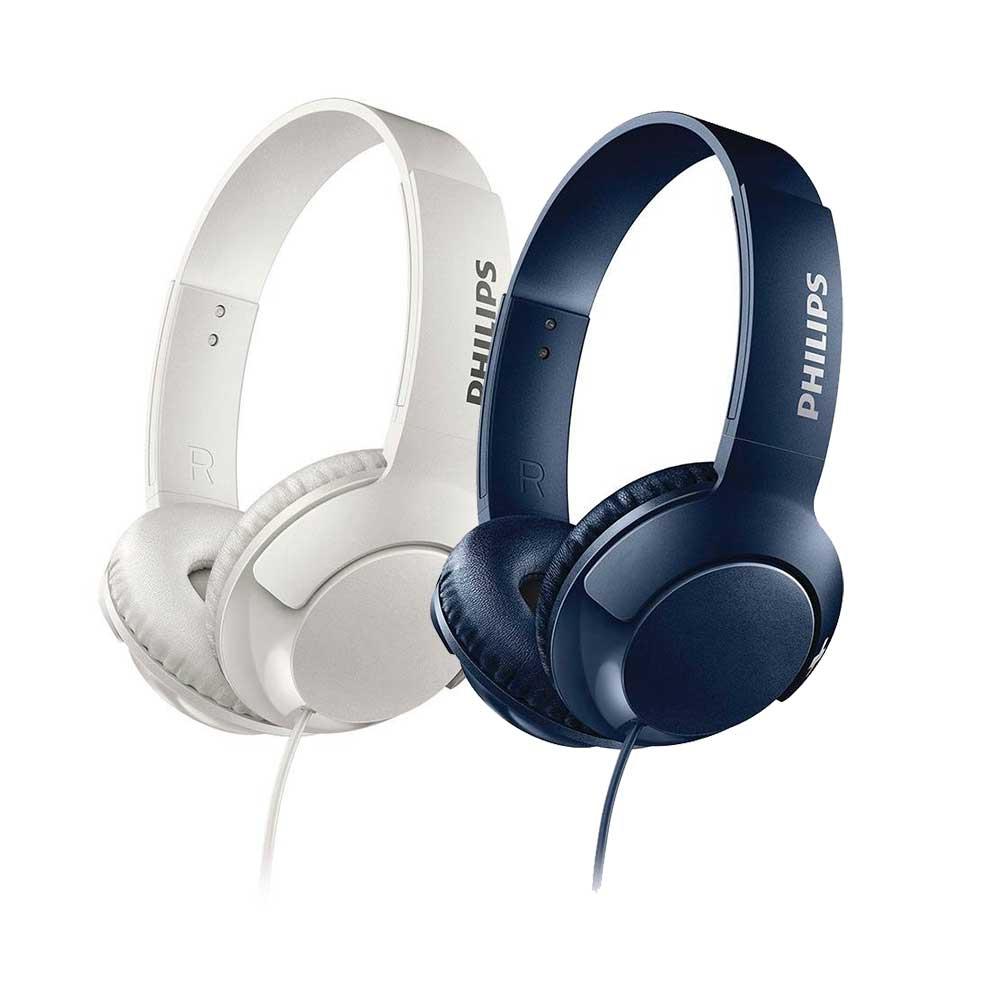 Walmart: paquete 2 Audífonos Philips BASS Plus SHL3070