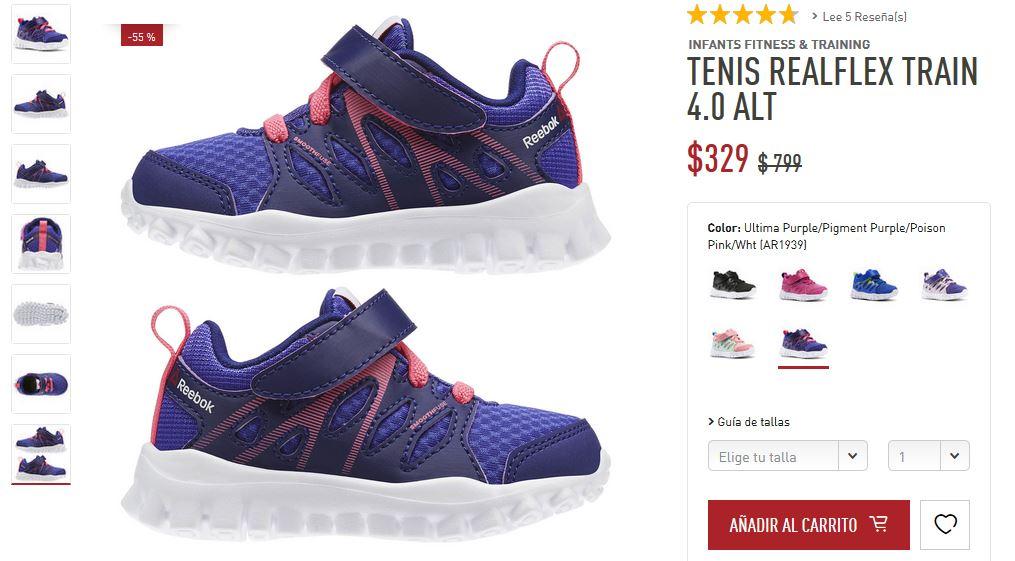 Reebok: Tenis RealFlex Train 4.0 ALT infantil