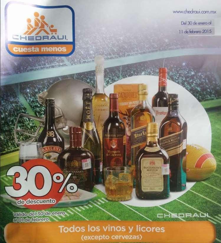 Chedraui: 30% de descuento en vinos y licores y bonificación en cervezas y botanas
