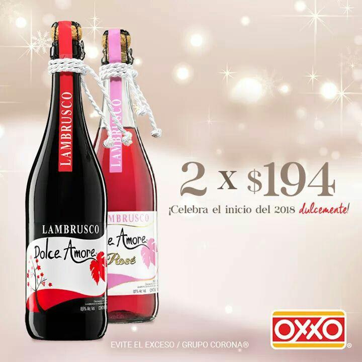 Oxxo: Vino Espumoso Lambrusco Dolce Amore 2 x $194