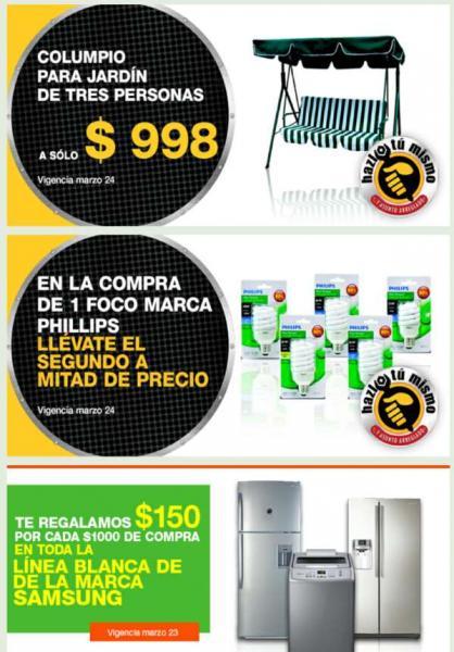 Comercial Mexicana: 2x1 y medio en focos Phillips y cremas, descuento en Samsung y +