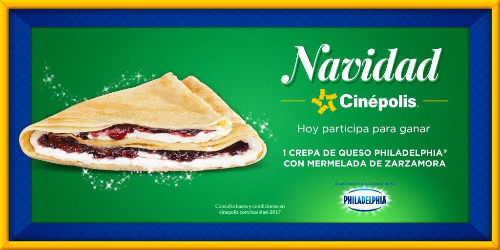 Navidad Cinepolis Dia 8: Crepa de queso Philadelphia con mermelada de zarzamora