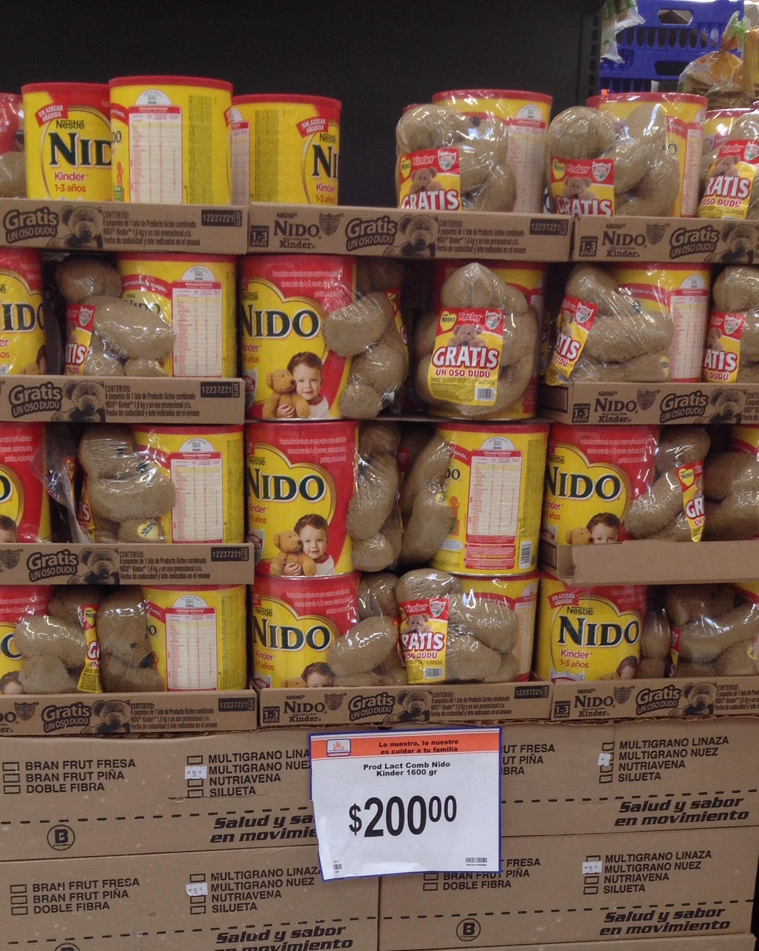 Chedraui: leche nido con osito de regalo