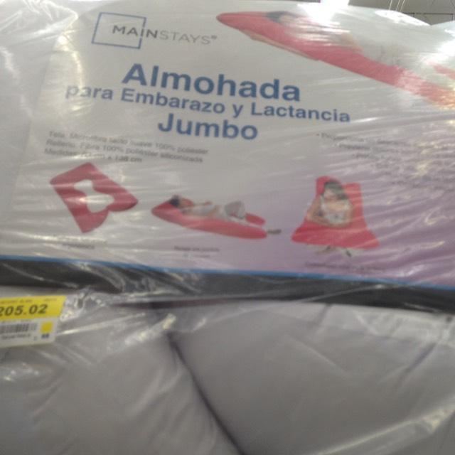 Walmart: Almohada para embarazo y lactancia $205.02