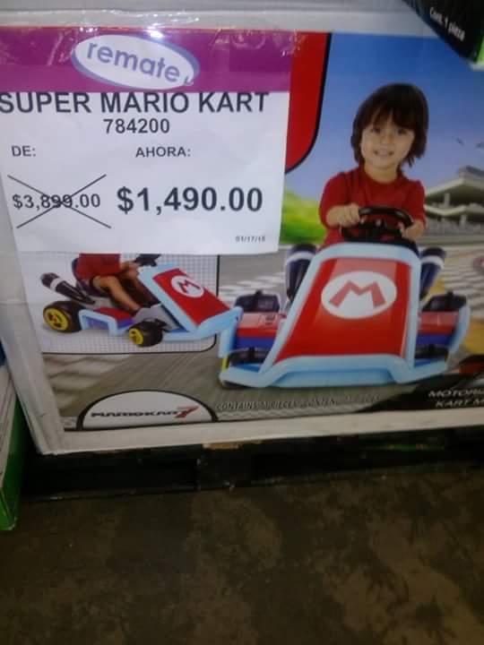 Bodega Aurrerá: montable de Super Mario Kart
