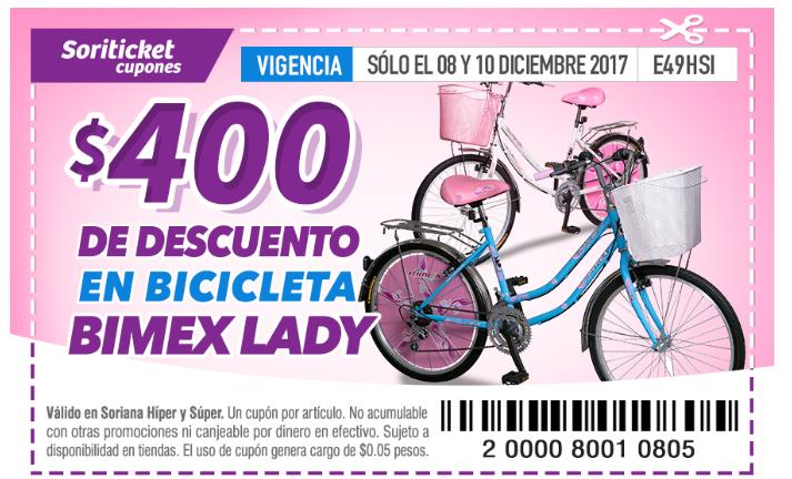 Soriana Soriticket: Bicicleta Bimex Lady R-24$400 Dr descuento