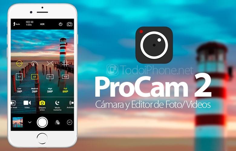 App de la semana en la Appstore: ProCam 2 GRATIS