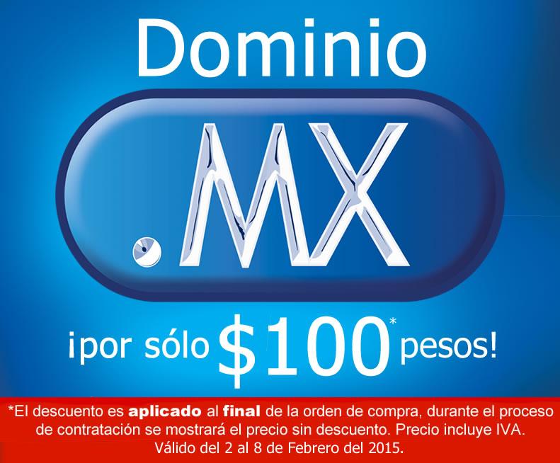 Dominios .MX desde $100 pesos por 1 año