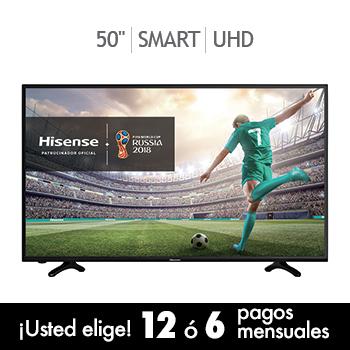 """COSTCO:Hisense LED 50"""" Smart TV Ultra HD 50H6D APLICA CON CUPON DECPP17"""