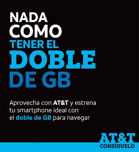 AT&T: Planes 2ble de datos en lineas nuevas y renovaciones