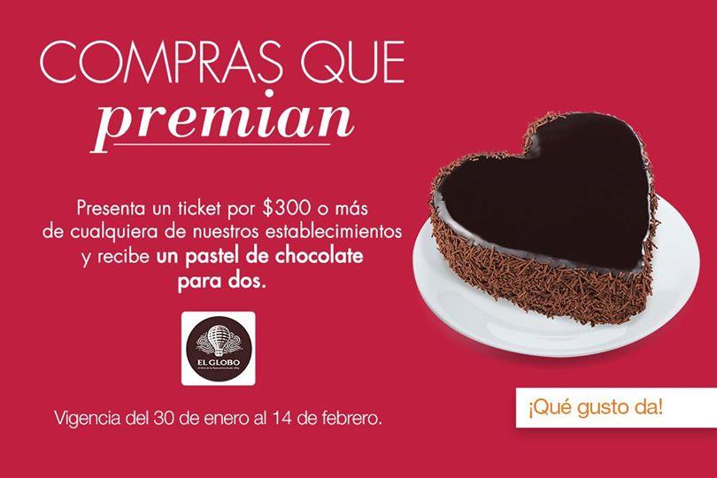 Perisur: Compra 300 en cualquier establecimiento y te regalan un pastel de chocolate.