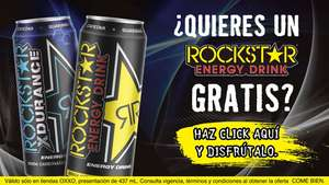 Oxxo: Rockstar Energy Drink 437ml GRATIS con cupón