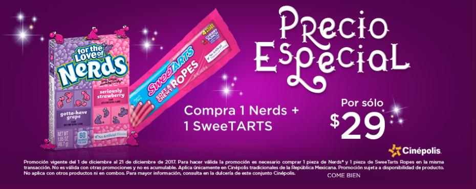 Cinepolis: Nerds + SweeTARTS a precio especial