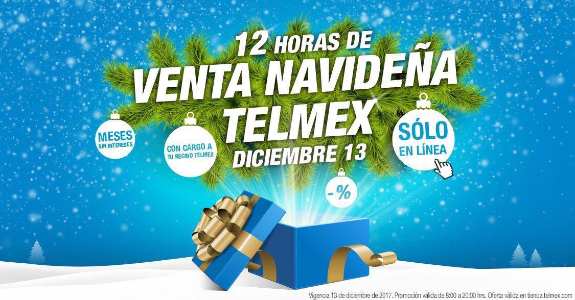 Telmex en línea: 12 horas venta navideña