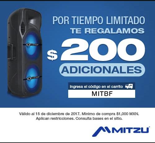 Mitzu: $200 adiciones en compras de $1000