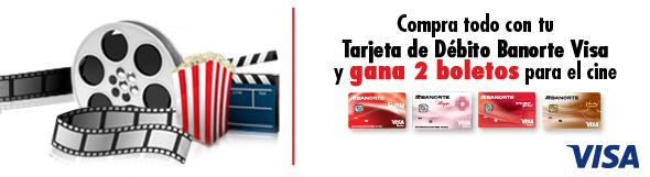 Banorte: Gana 2 boletos para el cine