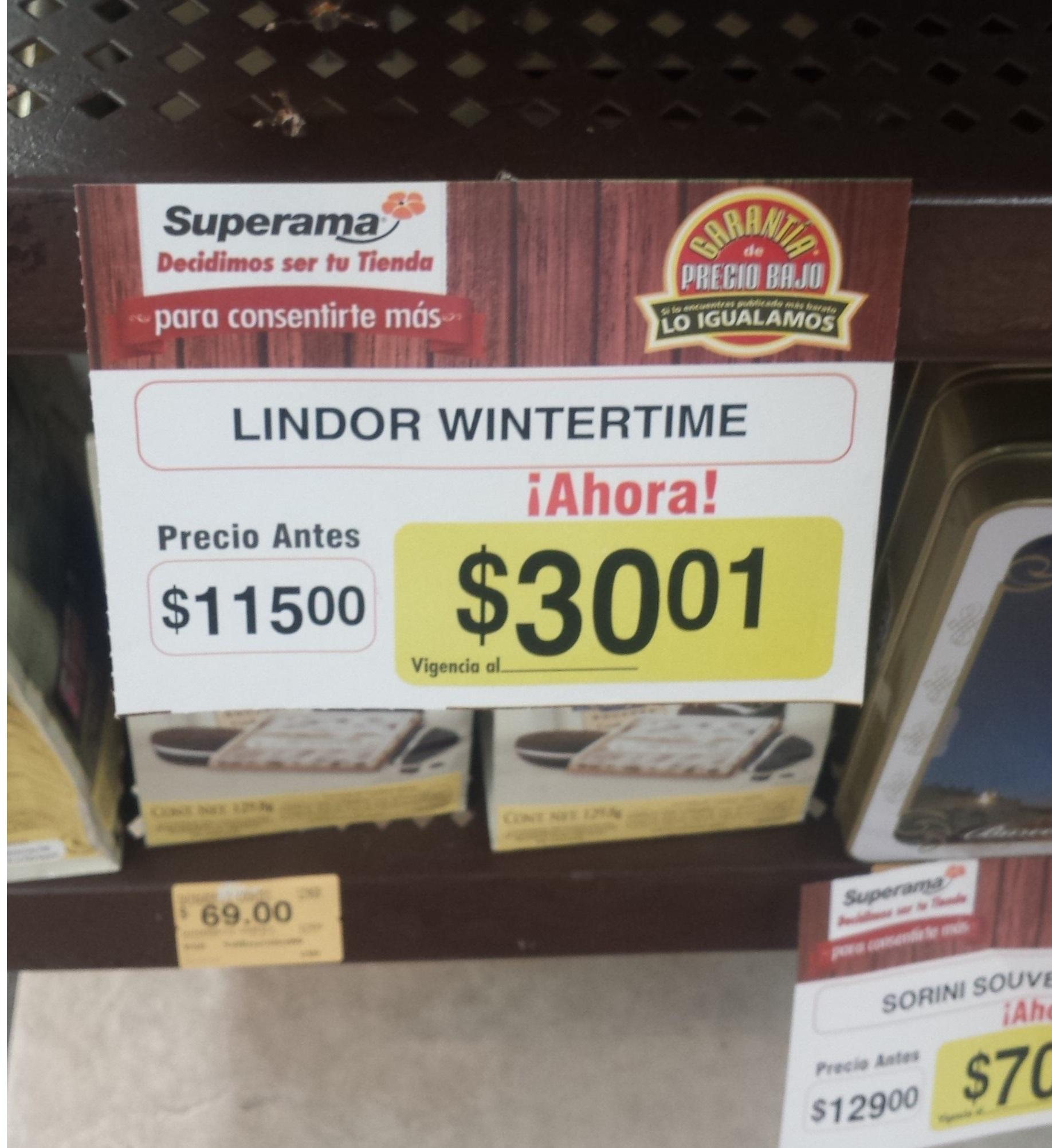 Superama: chocolates lindor $30