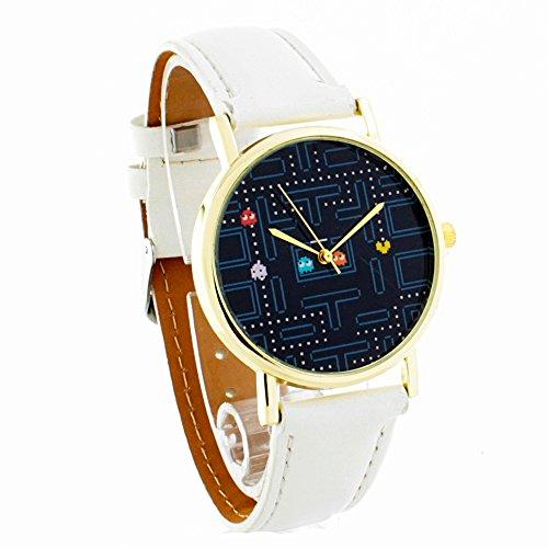 Amazon: Reloj para Mujer Análogo Pacman Incluye estuche Blister - Blanco( Vendido por un tercero, enviado por Amazon)