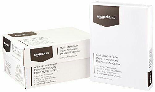 Amazon Basics: 1,500 hojas de papel