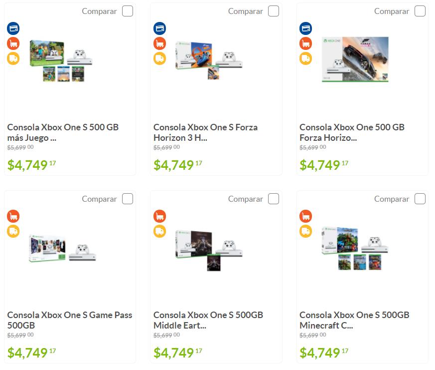 Sam's Club: Consola Xbox One S 500GB + juego (Xbox One X a $9,500)