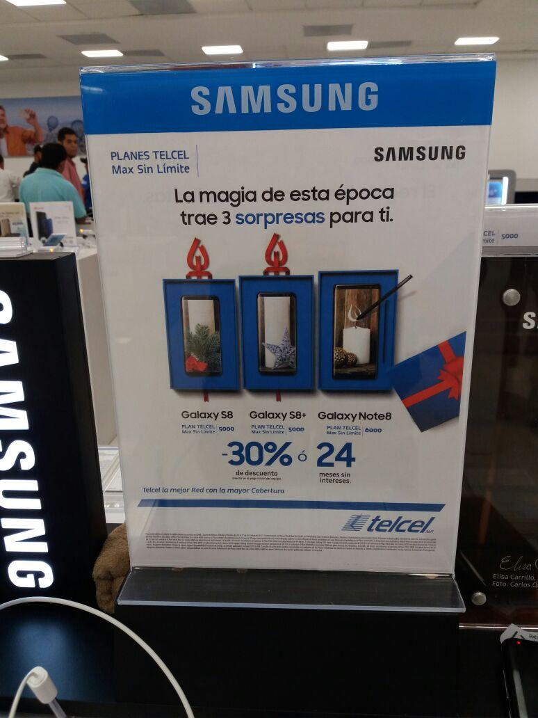 Telcel: 30% de descuento en samsung