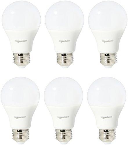 Amazon: AmazonBasics Bombilla LED equivalente a 60 W, luz blanca suave, no atenuable, A19, paquete de 6 - Envío gratis con Prime