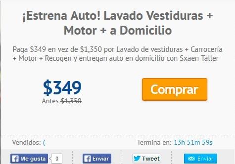 Cuponatic: Lavado Vestiduras + Motor + a Domicilio por $349 (D.F.)