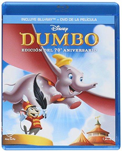 Amazon: Dumbo (Versión en Español Blu-ray + DVD del 70º Aniversario) - Envío gratis con Prime