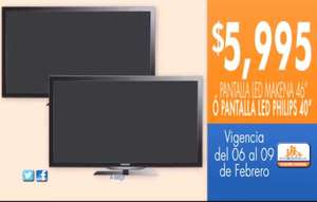 """Chedraui: pantalla LED 46"""" $5,995 y descuentos en línea blanca"""