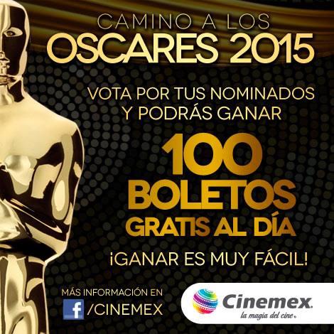 Cinemex: 100 Boletos Gratis al Día por votar encuesta