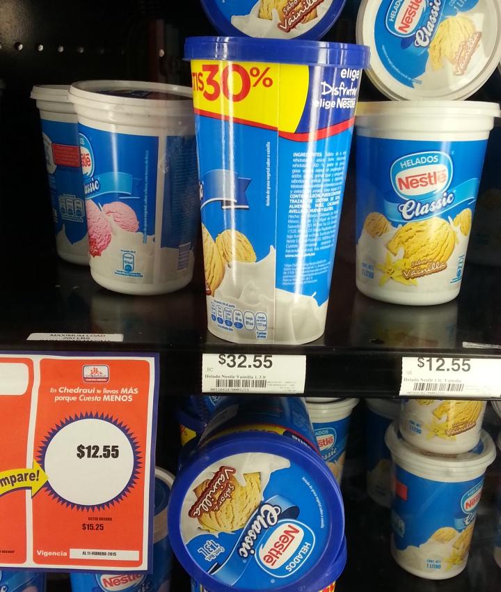 Chedraui: Helado Nestlé de 1lt Fresa o Vainilla