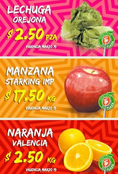 Miércoles de Plaza en La Comer marzo 19: naranja $2.50 el kilo y más